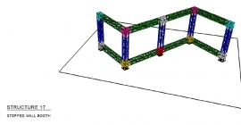 Stepped Wall Booth Truss