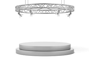 Circular Aluminum Display Exhibit And Lighting Truss