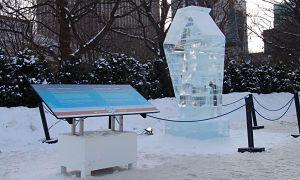 Ice Sculpture Identification Plaque Winterlude Versa Truss