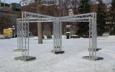 Modular Truss Trade Show Booths For Outdoor Applications